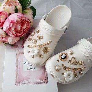 Croc Shoe Bling Wedding Charms